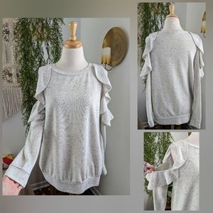 Isabel Maternity   cold shoulder sweater   small